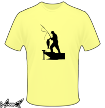 new t-shirt man fishing