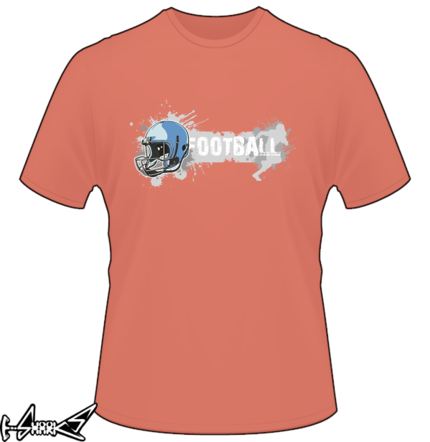 American football t shirts designed by grunge style American football style t shirts
