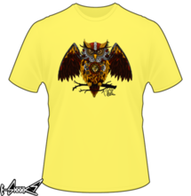 new t-shirt Steam punk owl