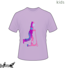 new t-shirt Girl on Kick Scooter