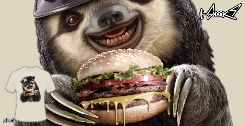 Sloth Burger T-shirts - Designed by: ADAM LAWLESS