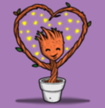 magliette t-sharks.com - Groot Loves You