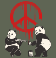 magliette t-sharks.com - Pandalism 2 - Peace Sign