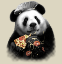 magliette t-sharks.com - Panda Loves Pizza