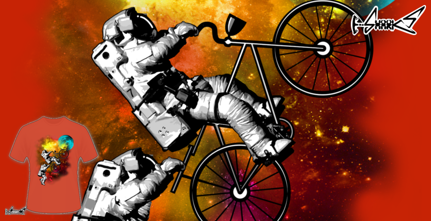 Cycle to the Moon T-shirts - Designed by: ADAM LAWLESS
