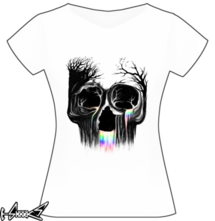 new t-shirt Life Flowing Skull
