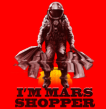 magliette t-sharks.com - MARS SHOPPER