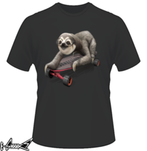 new t-shirt SLOTH ON SKATEBOARD