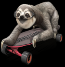 magliette t-sharks.com - SLOTH ON SKATEBOARD
