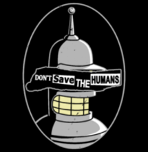 magliette t-sharks.com - Don't save the humans