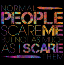 magliette t-sharks.com - Normal People Scare Me